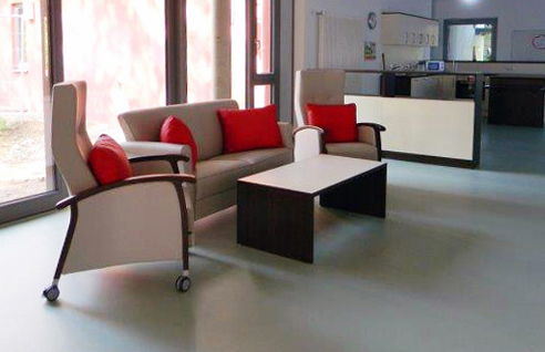 Wohnbereich der neuen gerontopsychiatrischen Abteilung für demenziell Erkrankte im Pflegeheim am Lohwald.
